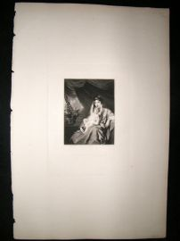 After Joshua Reynolds C1830 Folio Mezzotint. Ann Lascelles & Child